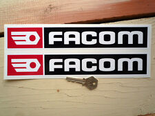 FACOM Red Black Sponsors Style Racing Car STICKERS 280mm Pair Race Rally Sports