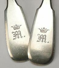 RARE 1872 FOUR SPOON SILVER 84 MONOGRAM RUSSIAN IMPERIAL ANTIQUE RUSSIA ROMANOV