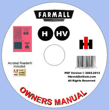 Farmall H & HV Tractor Owners Manual