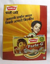 INDIAN OLD VINTAGE BEAUTIFUL UNIQUE PARLE BISCUITS LITHO PRINT SIGN BOARD