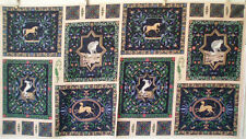 ~ RENAISSANCE MANAGERIE ~ fabric panel unicorn rabbit crane leopard reynolds