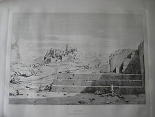"""Athenes le pnyx, Areopagus, I' Acropolis et I"""" Hymette Etching Print, Unframed"""