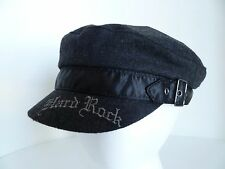 Hard Rock Café All is One Black Greek Fisherman Style Wool Blend Hat Cap