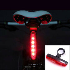 4 Modes 5 LED Lamp Night Bicycle Bike Cycling Rear Tail Light Super Bright Red