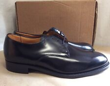 NEW IN BOX Black Formal 100% Leather Officer Shoes By SANDERS Size 10UK Standard