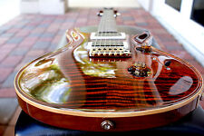 Paul Reed Smith Custom 24 Figure Top Pattern Thin Neck, Orange Tiger Brand NEW!