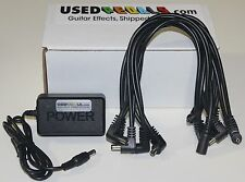 USEDPEDALS 10-Spot Daisy Chain & 9v Power Supply Combo fr Boss GE-7 Equalizer EQ