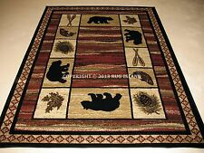 (1) Two Pack (2x3's) Lodge Cabin Rustic Bear Fish Decor Area Rug *FREE SHIPPING*