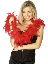 Feather Boa Red Deluxe 2 yards / 50g Charleston Boa 20's - Ladies Fancy Dress