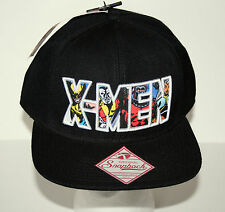Marvel Comics X-Men Black Baseball Cap Hat New Tags Original Snapback OSFM