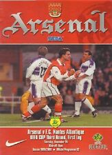 ARSENAL v NANTES ATLANTIQUE UEFA CUP 1999-00