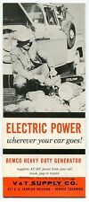 "Trailer Re: Vintage ""BEMCO"" Sales Brochure: HEAVY DUTY GENERATOR"