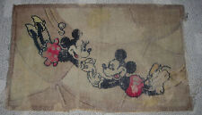 WALT DISNEY  MICKEY AND MINNIE MOUSE TRAPEZE  RUG  C. 1935  ALEXANDER SMITH