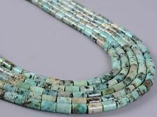 """0230 6x4mm African turquoise tube loose gemstone beads 16"""""""