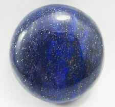 LARGE 18mm ROUND CABOCHON-CUT ROYAL-BLUE NATURAL CHINESE LAPIS LAZULI GEMSTONE