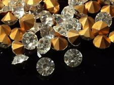 Lot (80g) 6mm ss28 Czech vintage gold foil mirrored crystal glass rhinestones