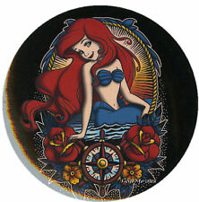 "Disney Little Mermaid Princess Ariel Tattoo 1 1/4"" Button Pinback Lanyard Charm"