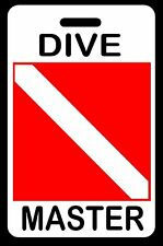 DIVE MASTER SCUBA Diving Luggage/Gear Bag Tag - New