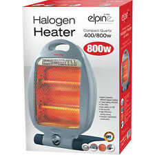 Halogen heater 400 / 800w low power ideal motorhome caravan camper van bedroom