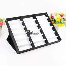 Eyeglass Sunglasses Glasses Storage Display Grid Stand Case Box Holder 18 Slot