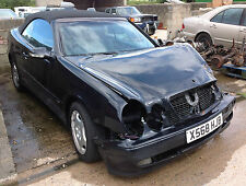 MERCEDES CLK CLASS W208 CONVERTIBLE DAMAGED REPAIRABLE SALVAGE, PARTS AVAILABLE
