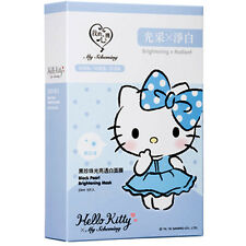 [MY SCHEMING] Hello Kitty Black Pearl Brightening & Radiant Facial Mask 5pc/1box