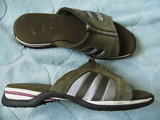 WOMENS LADIES CLARKS CICA BROWN & SILVER FLAT SANDALS SHOES UK SIZE 5 D EURO 38