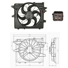 Electric Cooling Fan Assembly Fits: 2005 - 2010 Ford Mustang V6 4.0L & V8 4.6L