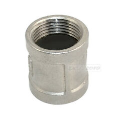 """Nipple 1"""" female - 1"""" 304 Stainless Steel threaded coupling Pipe Fitting NPT"""