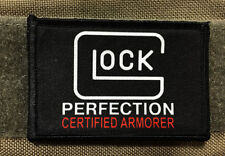 Glock Certified Armorer Morale PatchTactical ARMY Hook Military USA Badge Flag