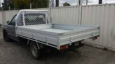 USED Single Cab Alloy Ute Tray with Rear Removable Ladder Rack