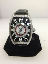 FRANCK MULLER VEGAS CASABLANCA WHITE GOLD DIAMOND WATCH 6850 NIB $68,700 RETAIL!