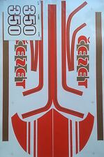 JAWA CZ 350 STICKER SET CEZET STICKER SET IN RED