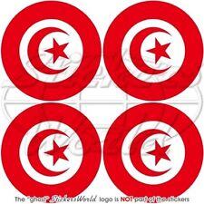 TUNISIE Tunisienne Pare-choc Casque Autocollants 50mm x4 Vinyl Stickers