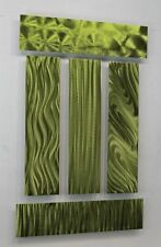 """Green Abstract 5 Piece Metal Wall Decor Accents """"Easy Pieces Green"""" by Jon Allen"""