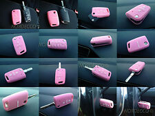 QUALITY SILICONE 3 BUTTON FLIP KEY FOB PROTECTOR CASE VW MARK 7 GOLF GOLF R pink