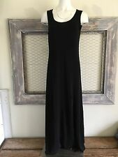 J. Jill Maxi Dress Little Black Medium Sleeveless Full Length Straight
