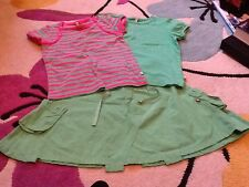 Designer Fransa Kids girls skirt and 2 tshirt tops age 6 years