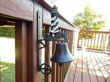 VINTAGE CAST IRON DINNER/DOOR BELL LIGHTHOUSE