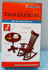 Miniatures Pose Skeleton Rocking Chair & Accessory  , 1pc - Re-ment , h#2
