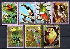 Oiseaux Guinée équatoriale (23) série complète de 7 timbres oblitérés