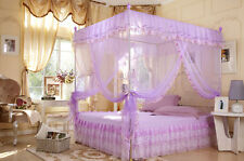 Princess 4 Corners Post Bed Canopy Mosquito Net Twin Full/Queen King All Size