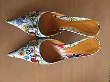 Gucci Flora Pattern Mules, Size 37, Uk 4, Cruise, Party, Holidays