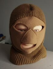 vintage WINTER SKI MASK - SCARY Full Face snowmobile/hunting 70s Made in USA