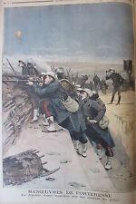 SOLDATS GENIE UNIFORMES BALLON PRESIDENT REPUBLIQUE GRAVURE PETIT JOURNAL 1894