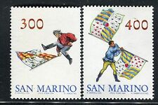SAN MARINO 1984 SBANDIERATORI/FLAG-WAVERS/FLAGS/FOLKLORE  MNH