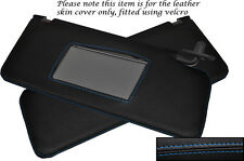 BLUE STITCH FITS HONDA PRELUDE MK5 1997-2001 2X SUN VISORS LEATHER COVERS ONLY