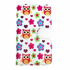 Smartphone Book Cover / Wallet Case For Panasonic P65 Flash - 360 Owl S