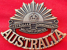 ANZAC WW1 & WW2 RISING SUN COMMEMORATIVE UNIFORM BADGE MEDALS AUSTRALIA