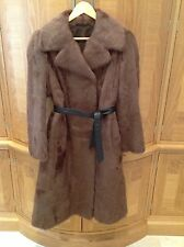 Gorgeous Real Lamb Shearling Calf Length Coat, Warm minky shade  14- 16